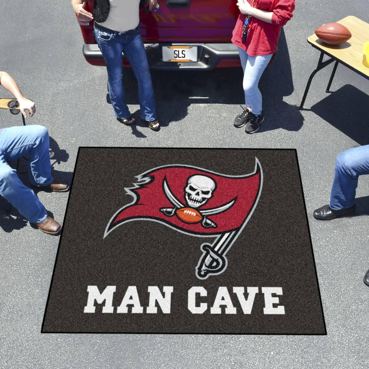 Man Cave Store Tampa : Tampa bay buccaneers man cave tailgate mat