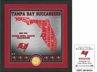 Tampa Bay Buccaneers State Bronze Coin Photo Mint