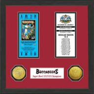 Tampa Bay Buccaneers Super Bowl Ticket Collection Framed
