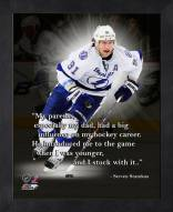 Tampa Bay Lightning Steven Stamkos Framed Pro Quote