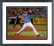 Tampa Bay Rays Alex Cobb 2014 Action Framed Photo