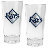 Tampa Bay Rays Baseball Sculpted Bottom Pint Glass Set
