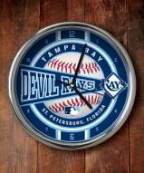 Tampa Bay Rays Chrome Wall Clock