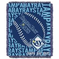 Tampa Bay Rays Double Play Jacquard Throw Blanket