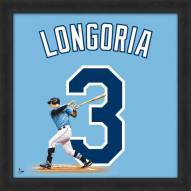 Tampa Bay Rays Evan Longoria Uniframe Framed Jersey Photo