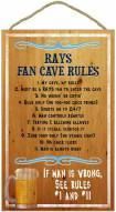 Tampa Bay Rays Fan Cave Rules Wood Sign