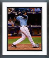 Tampa Bay Rays James Loney 2014 Action Framed Photo