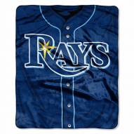 Tampa Bay Rays Jersey Raschel Throw Blanket
