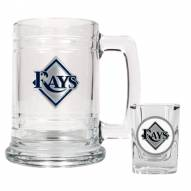 Tampa Bay Rays MLB Boilermaker Set - Shot Glass & Tankard Mug