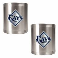 Tampa Bay Rays MLB Stainless Steel Can Holder 2-Piece Set