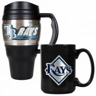 Tampa Bay Rays Travel Mug & Coffee Mug Set