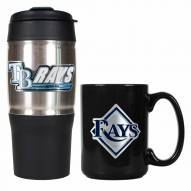 Tampa Bay Rays Travel Tumbler & Coffee Mug Set