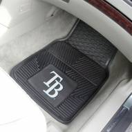 Tampa Bay Rays Vinyl 2-Piece Car Floor Mats