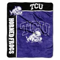 TCU Horned Frogs Jersey Mesh Raschel Throw Blanket