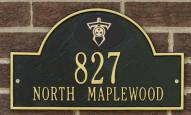 Tennessee Titans NFL Personalized Address Plaque - Black Gold