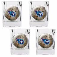Tennessee Titans Open Field 4-Piece RealTree Square Shot Glass Set