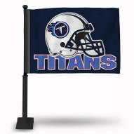 Tennessee Titans Car Flag with Black Pole