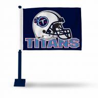 Tennessee Titans Car Flag with Navy Pole