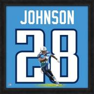 Tennessee Titans Chris Johnson Uniframe Framed Jersey Photo