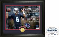 Tennessee Titans Marcus Mariota Quote Bronze Coin Photo Mint