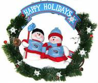 Tennessee Titans NFL Team Snowmen Christmas Wreath