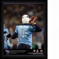Tennessee Titans Personalized NFL Action QB Framed Print