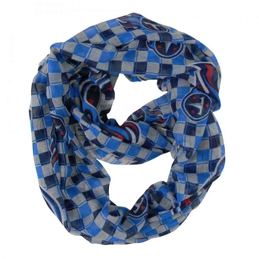 Tennessee Titans Plaid Sheer Infinity Scarf