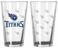 Tennessee Titans Satin Etch Pint Glass - Set of 2