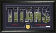 Tennessee Titans Silhouette Bronze Coin Panoramic Photo Mint