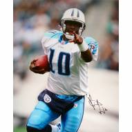 """Tennessee Titans Vince Young Close Up Signed 16"""" x 20"""" Photo"""