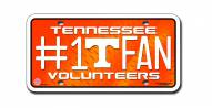 Tennessee Volunteers #1 Fan License Plate