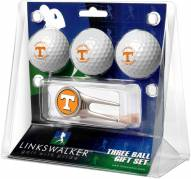 Tennessee Volunteers Golf Ball Gift Pack with Cap Tool