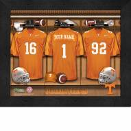 Tennessee Volunteers Personalized Locker Room 11 x 14 Framed Photograph