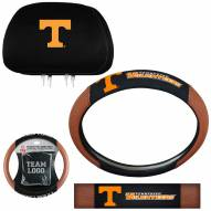 Tennessee Volunteers Steering Wheel & Headrest Cover Set