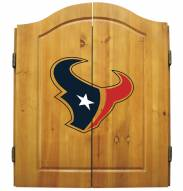 Houston Texans NFL Complete Dart Board Cabinet Set (w/darts & flights)