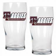 Texas A&M Aggies 20 oz. Pub Glass - Set of 2