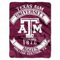 Texas A&M Aggies Rebel Raschel Throw Blanket