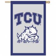 "Texas Christian Horned Frogs 28"" x 44"" Double Sided Applique Flag"