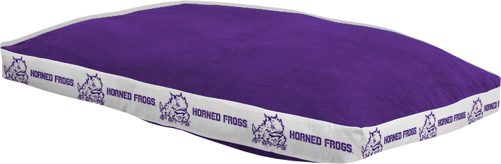 """Texas Christian Horned Frogs 26"""" x 37"""" Dog Bed"""