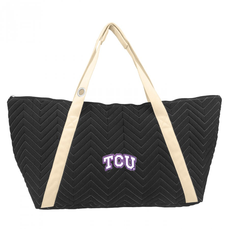 Texas Christian Horned Frogs Chevron Stitch Weekender Bag
