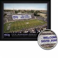 Texas Christian Horned Frogs Personalized Framed Stadium Print