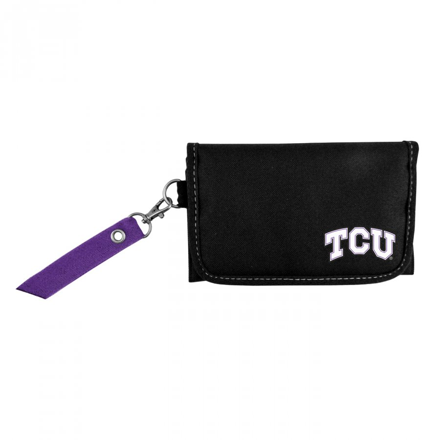Texas Christian Horned Frogs Ribbon Organizer Wallet