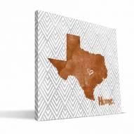 """Texas Longhorns 12"""""""" x 12"""""""" Home Canvas Print"""