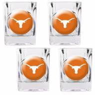 Texas Longhorns 4 Piece Square Shot Glasses