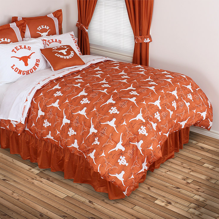 Texas Longhorns All Over Bed Comforter