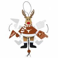 Texas Longhorns Cheering Reindeer Ornament