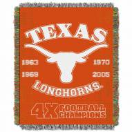Texas Longhorns Commemorative Champs Throw Blanket