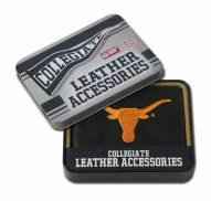 Texas Longhorns Embroidered Leather Billfold Wallet