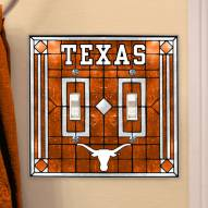Texas Longhorns Glass Double Switch Plate Cover