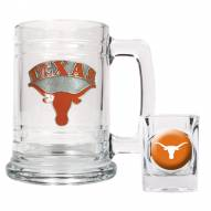 Texas Longhorns Glass Mug & Shot Glass Set